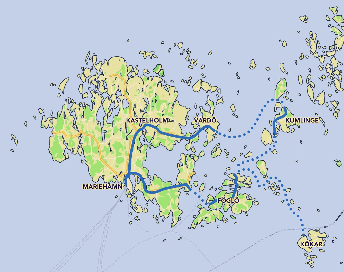 Bike Routes In Aland Aland Travel
